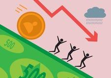 Dålig investering vektor illustrationer