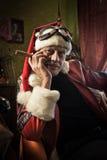 Dålig jultomten med cigarren Royaltyfria Bilder