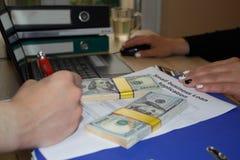 Dålig kreditering för små och medelstora företaglån ingen säkerhetsåtgärd St för affärslån Royaltyfria Bilder