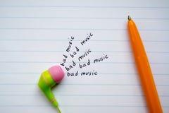 dålig musik Arkivbild
