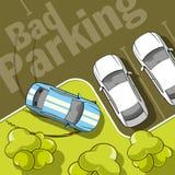 Dålig parkering Arkivbilder