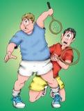 dålig tennis Arkivbilder