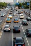 Dålig trafik av beijing Fotografering för Bildbyråer