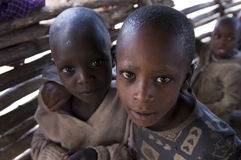 dåliga afrikanska barn Royaltyfri Fotografi