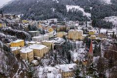 Dåliga Gastein under vinter Royaltyfria Foton