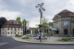 Dåliga Kissingen - brunnsortstad Arkivbilder