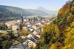 Dåliga Schandau, Tyskland Arkivbilder