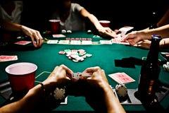 Dåligast hand i poker Arkivbilder