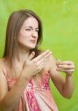dåligt lukta för flickadoft Royaltyfri Foto
