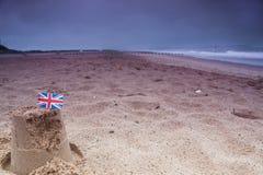 Dåligt väder fortsätter i UK Arkivbilder