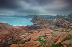 Dåligt väder i Brittany Royaltyfri Bild