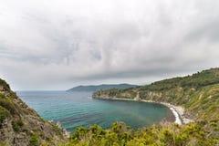 Dåligt väder på kusten Royaltyfri Fotografi