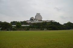 Dåligt väderHimeji slott Japan Arkivfoto