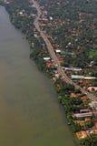 Dåna modern konstruktion Colombo Sri Lanka för tropisk ö Arkivfoto
