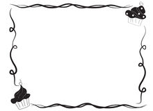 Dé el bosquejo exhausto de un bastidor de la frontera de la magdalena Fotografía de archivo libre de regalías