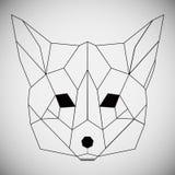 Dé el bosquejo realista exhausto de un zorro, aislado en el fondo blanco Foto de archivo libre de regalías