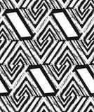 Dé el collage inconsútil texturizado exhausto del modelo del extracto del vector a pulso con el adorno de la cebra, texturas orgá ilustración del vector