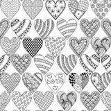 Dé el corazón ornamental exhausto con amor en el garabato, triba del zentangle libre illustration