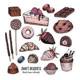 Dé el ejemplo exhausto del vector - colección de chucherías, dulces, Fotografía de archivo libre de regalías