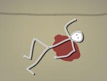 Hombre muerto stock de ilustración