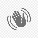 Dé el icono del vector que agita hola o adiós gesto ilustración del vector