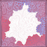Dé el marco extraño exhausto en violeta, rosa y azul ilustración del vector