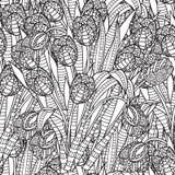Dé el marco floral modelado ornamental étnico artístico exhausto stock de ilustración