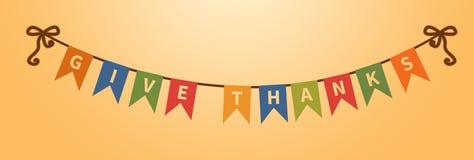 Dé el texto de las gracias Decoraciones del día de fiesta Elemento del diseño libre illustration