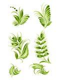 Florezca el estilo étnico de Ucrania de la colección verde de los elementos   libre illustration