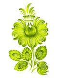 Estilo étnico verde de Ucrania de la flor   ilustración del vector