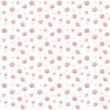 Dé a gatos exhaustos del bosquejo la pata y los rastros modelo inconsútil, elementos del ejemplo del vector aislados en el fondo  stock de ilustración
