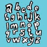Alfabeto de moda dibujado mano del Grunge Imagen de archivo libre de regalías
