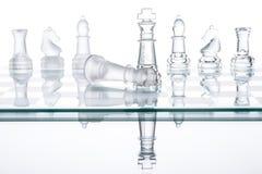 Dé jaque mate la estrategia en el tablero de ajedrez, el ganar de la guerra del negocio Fotografía de archivo
