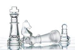 Dé jaque mate la estrategia en el tablero de ajedrez, el ganar de la guerra del negocio Fotos de archivo libres de regalías