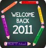 Dé la bienvenida de nuevo a la escuela 2011 libre illustration