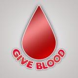 Dé la campaña del emblema de la sangre Fotografía de archivo libre de regalías