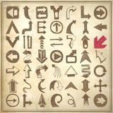 Dé la colección del elemento de la flecha del bosquejo del drenaje, iconos Imágenes de archivo libres de regalías