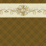 Dé la flor del drenaje en fondo marrón controlado libre illustration