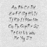 Dé la fuente exhausta y bosquejada, alfabeto del estilo del bosquejo del vector Fotografía de archivo