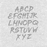 Dé la fuente exhausta y bosquejada, alfabeto del estilo del bosquejo del vector Imagenes de archivo
