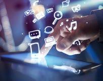 Concepto social de los medios Imagenes de archivo