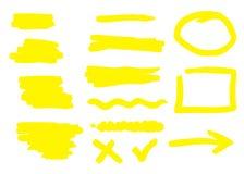 Dé las formas exhaustas y las líneas aisladas en el fondo blanco Ilustración del vector ilustración del vector