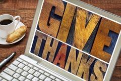 Dé las gracias - concepto de la acción de gracias Imagen de archivo libre de regalías