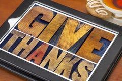 Dé las gracias - concepto de la acción de gracias Fotos de archivo