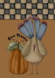 Dé las gracias Turquía y la tarjeta de la calabaza Imagen de archivo libre de regalías
