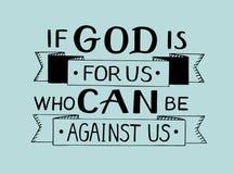 Dé las letras si dios está para nosotros que puedan contra nosotros libre illustration