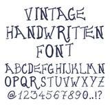 Dé las letras texturizadas vintage decorativo exhausto de ABC del vector Fotos de archivo libres de regalías