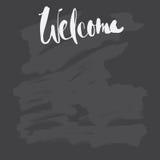 Dé a letras exhaustas las fases agradables y cepille el movimiento en blackboa Imagen de archivo libre de regalías