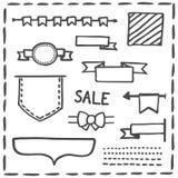 Dé los jefes o el sistema exhaustos del ejemplo del vector de la bandera stock de ilustración