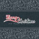Dé a Navidad exhausta el modelo inconsútil en color gris libre illustration